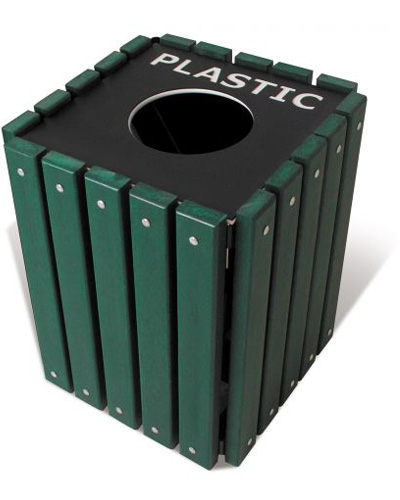 Recycled Trash Receptacles