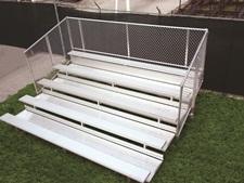Prestige Bleacher Series w/Chain Link Fence