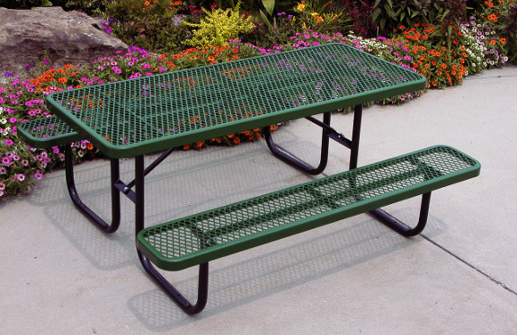 Heavy-Duty Rectangular Expanded Metal Table