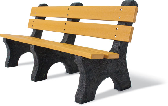 Standard Recycled Bench w/Back
