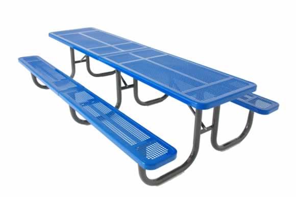 Perforated Metal 3 Leg Picnic Table