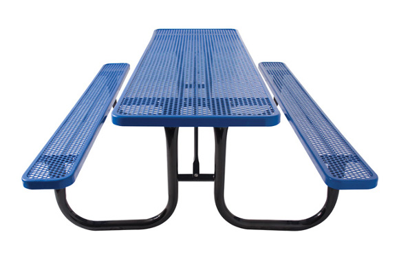 Rectangular perforated metal table site furnishings commercial rectangular perforated metal picnic table site furnishings commercial playground equipment watchthetrailerfo