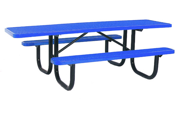 8' ADA Accessible Expanded Metal Picnic Table - Commercial Playground Equipment - Site Furnishings