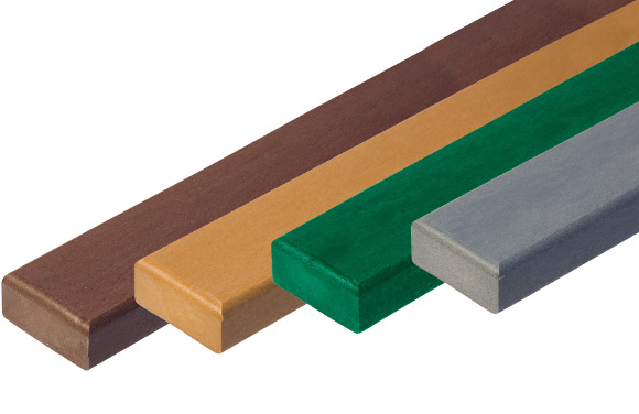 100% Recycled Plastic 2x4 Plank Color Options