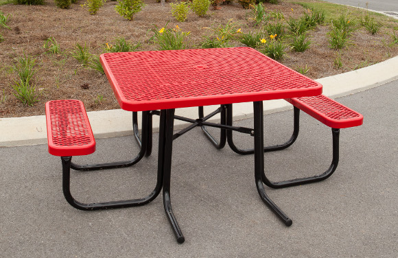 46 square ada expanded metal picnic table commercial playground 46 square ada accessible expanded metal picnic table commercial playground equipment site furnishings 46 watchthetrailerfo