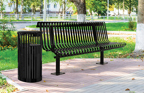Kensington Bench w/Back