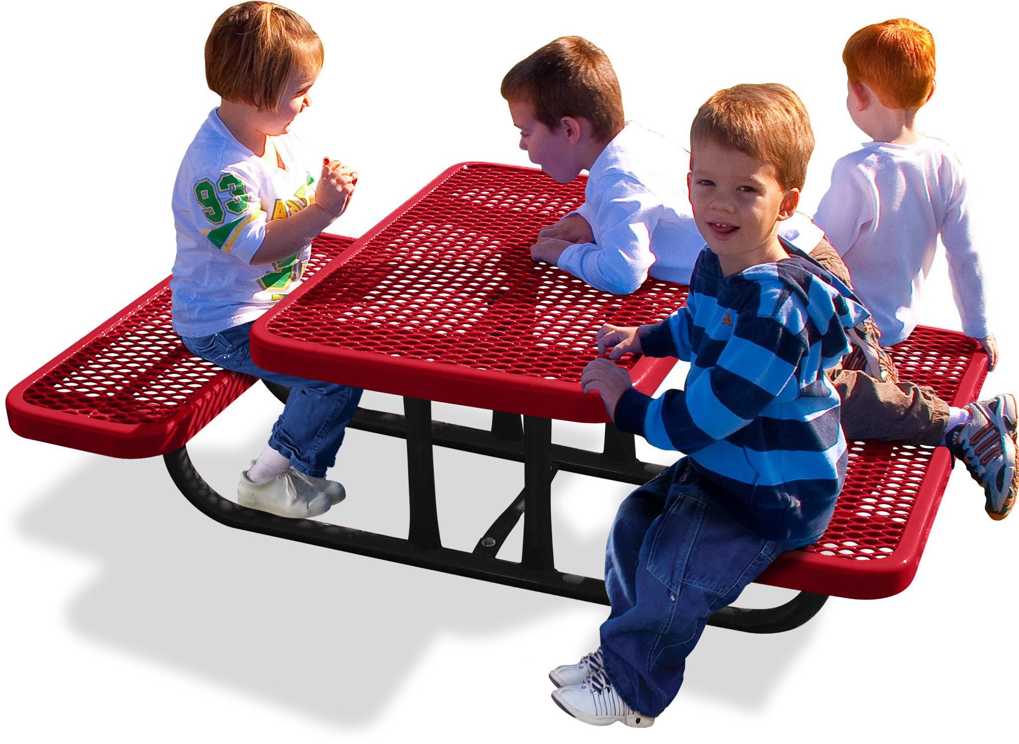 Heavy Duty Diamond Pattern Preschool Table