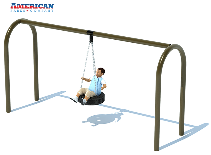 Swing Sets | 1 Bay Tire Swing Frame | American Parks Company