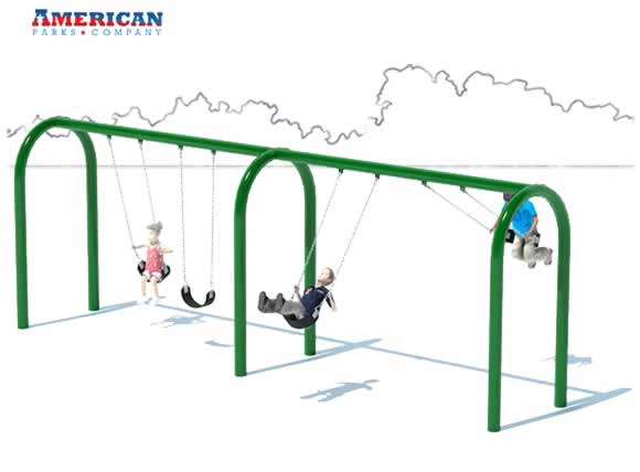 2 Bay Arch Swing Set | Swings | American Parks Company