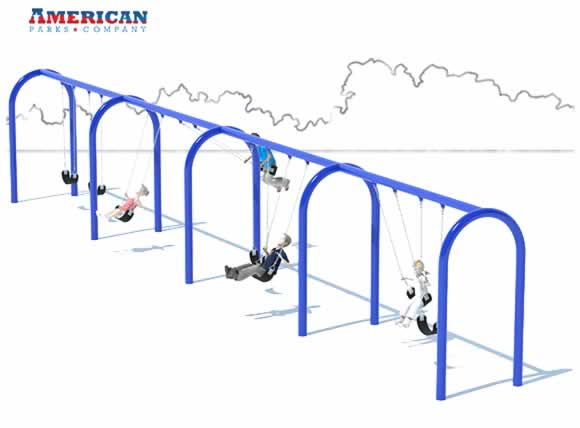 4 Bay Arch Swing Set | Swings | American Parks Company