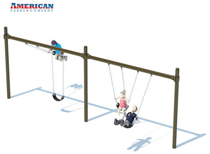 2 Bay Single Post Swing Frame | Swing Sets | American Parks Company
