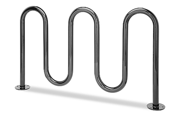 Contemporary Loop Bike Rack - Commercial Playground Equipment - Site Furnishings