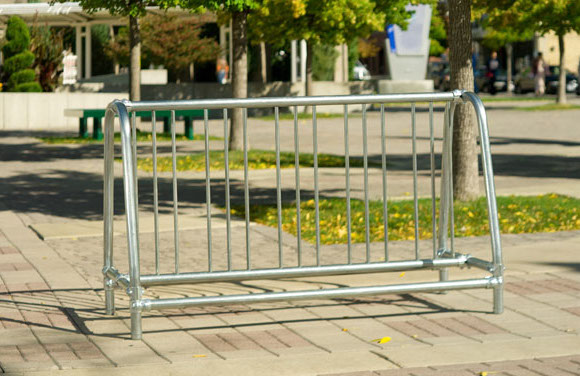 Traditional Double-Sided Bike Rack - Commercial Playground Equipment - Site Furnishings