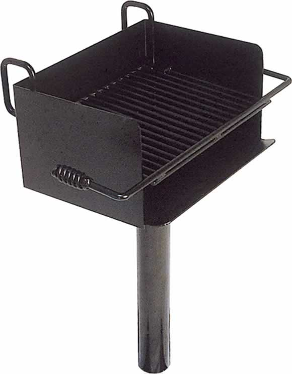Rotating Cantilever Park Grill