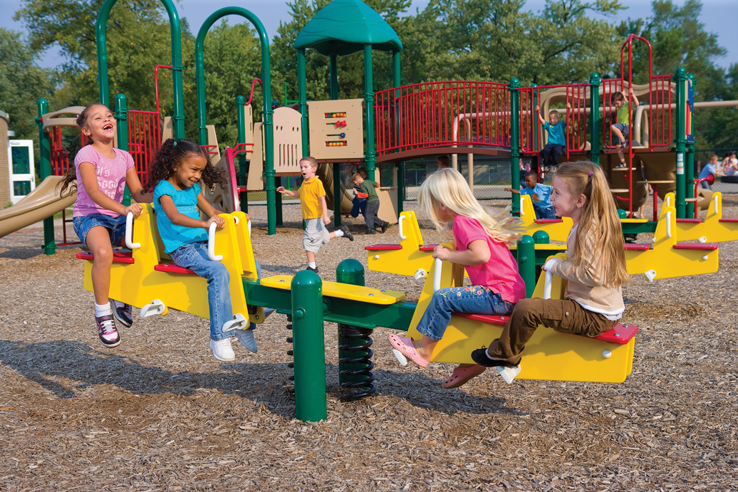 See-Saw Bouncer - spring rider - commercial playground equipment