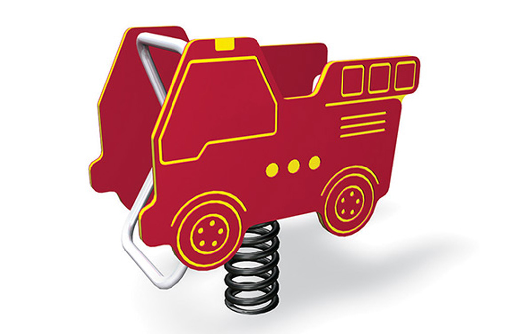 Fire Truck - independent play equipment - spring rider - bounce