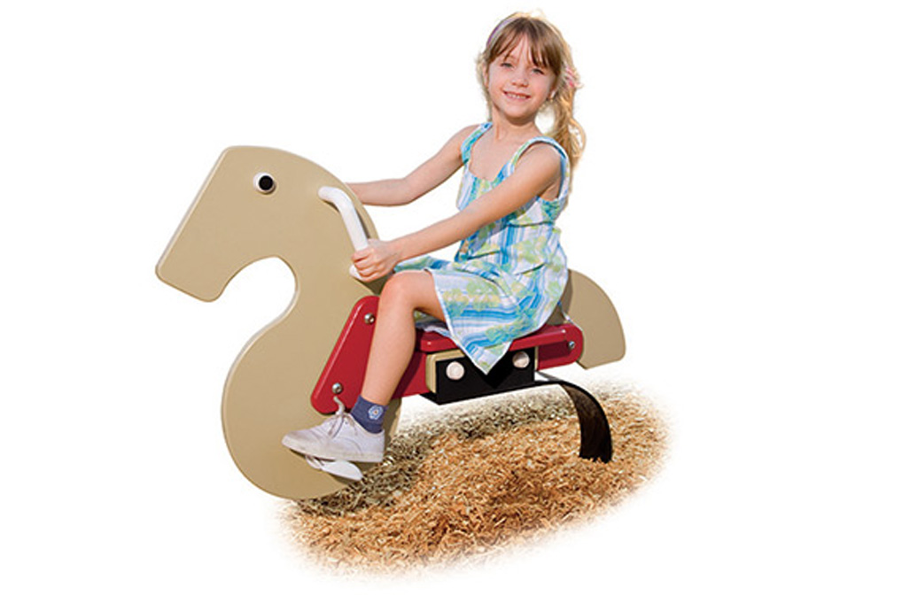 Horse w/C-Spring - spring rider - commercial playground equipment