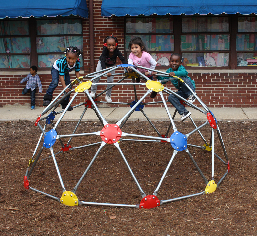geo dome climber - playful - lifestyle - Commercial Playground Equipment