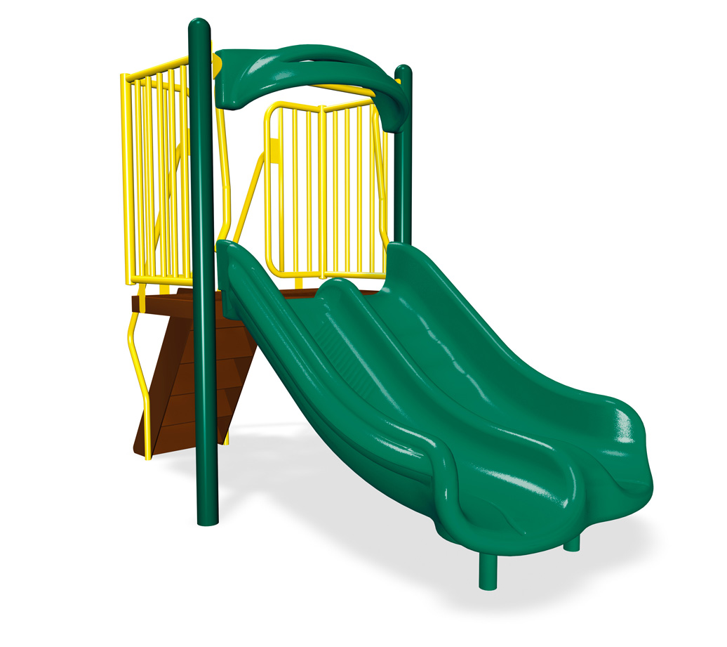 3' Double Velocity Slide | Freestanding Slides