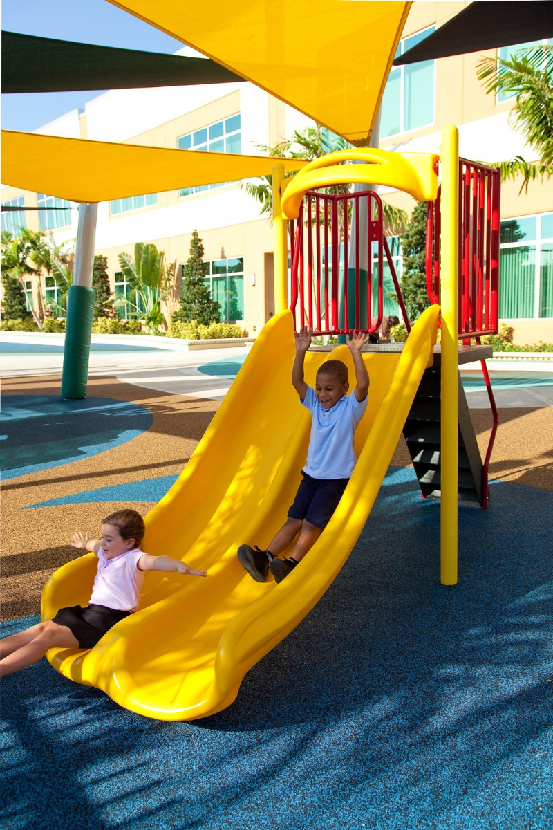 4' Double Velocity Slide | Freestanding Slides | American Parks Company