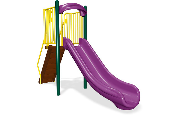 4' Single Velocity Slide - Independent Play Products - American Parks Company