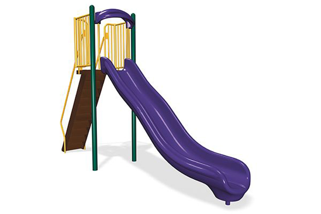 6' Single Velocity Wave Slide - freestanding slide - commercial playground equipment