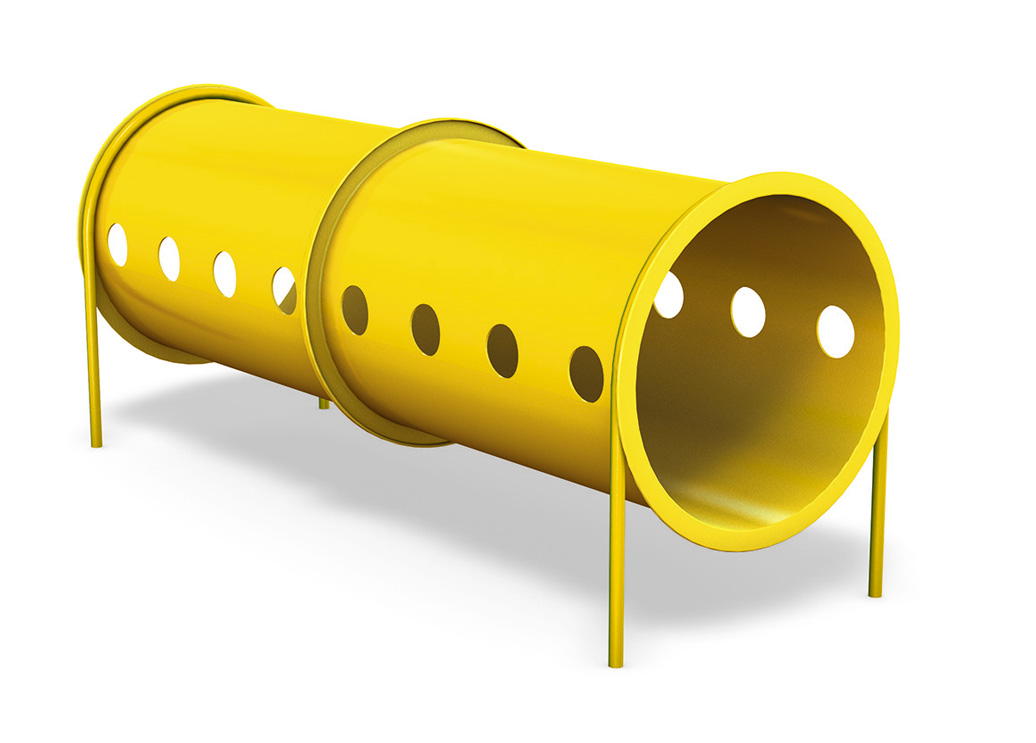 Double Crawl Tunnel - independent play structure - commercial playground equipment