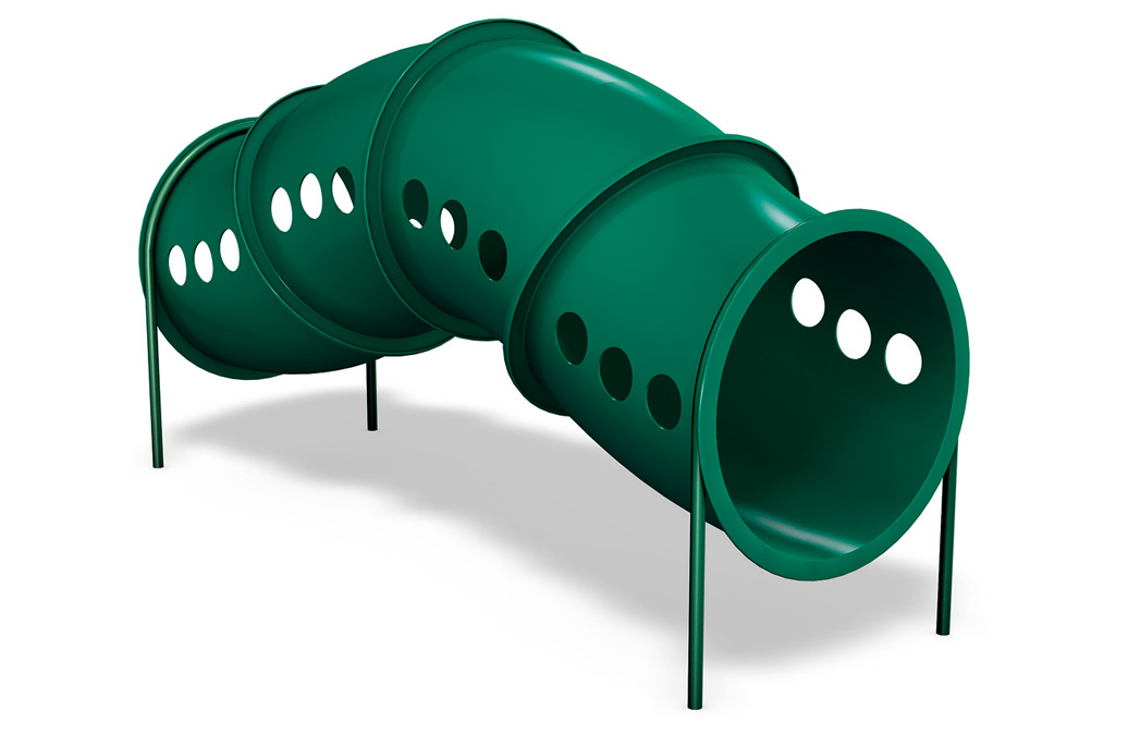 Single Worm Crawl Tunnel - commercial playground equipment