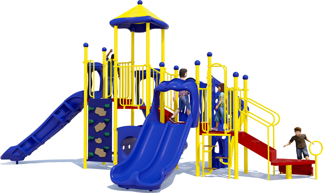 Playscape Playground Structure - Primary Color Scheme - Front View