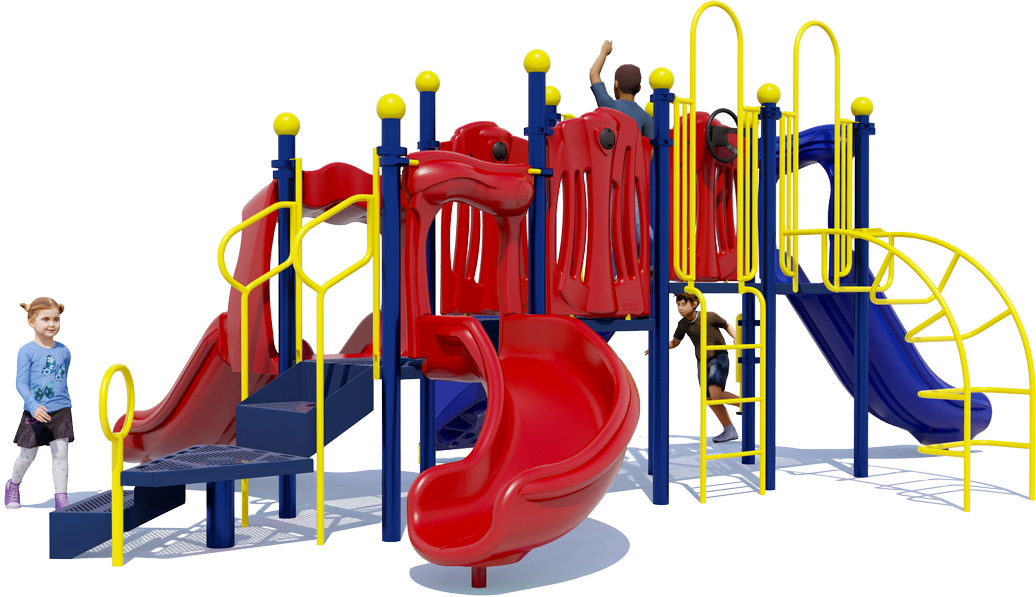 Rhyme 'n Reason Playground Equipment - Primary Color Scheme - Back