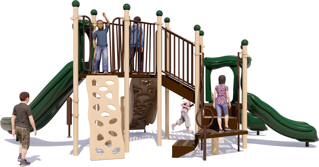 Simon Says Play Structure - Natural Colors - Rear View