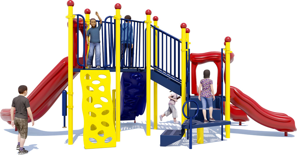Simon Says Play Structure - Primary Colors - Rear View