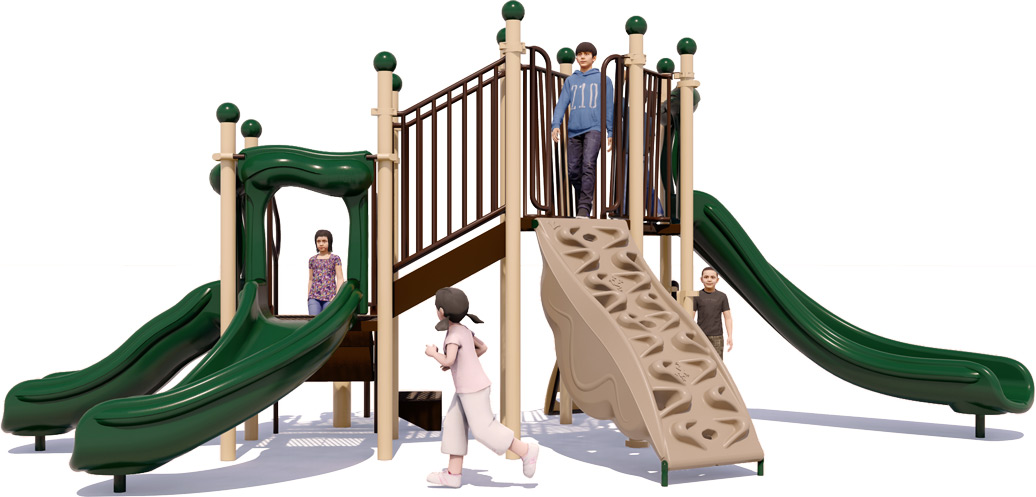 Simon Says Play Structure - Natural Colors - Front View