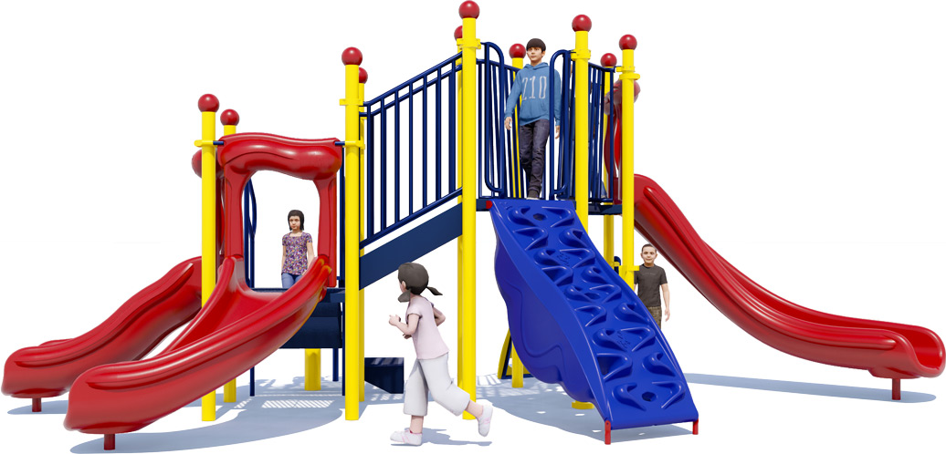 Simon Says Play Structure - Primary Colors - Front View