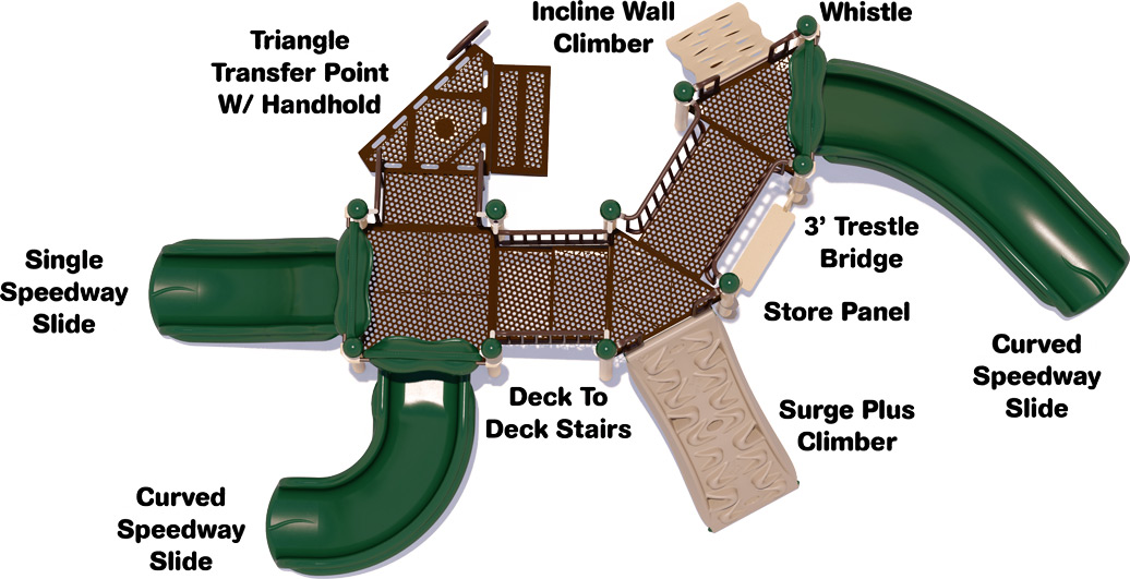 Simon Says Play Structure - Natural Colors - Top View