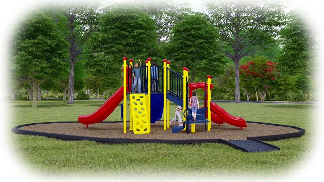 Simon Says Playground Bundle - Primary Colors - Engineered Wood Fiber