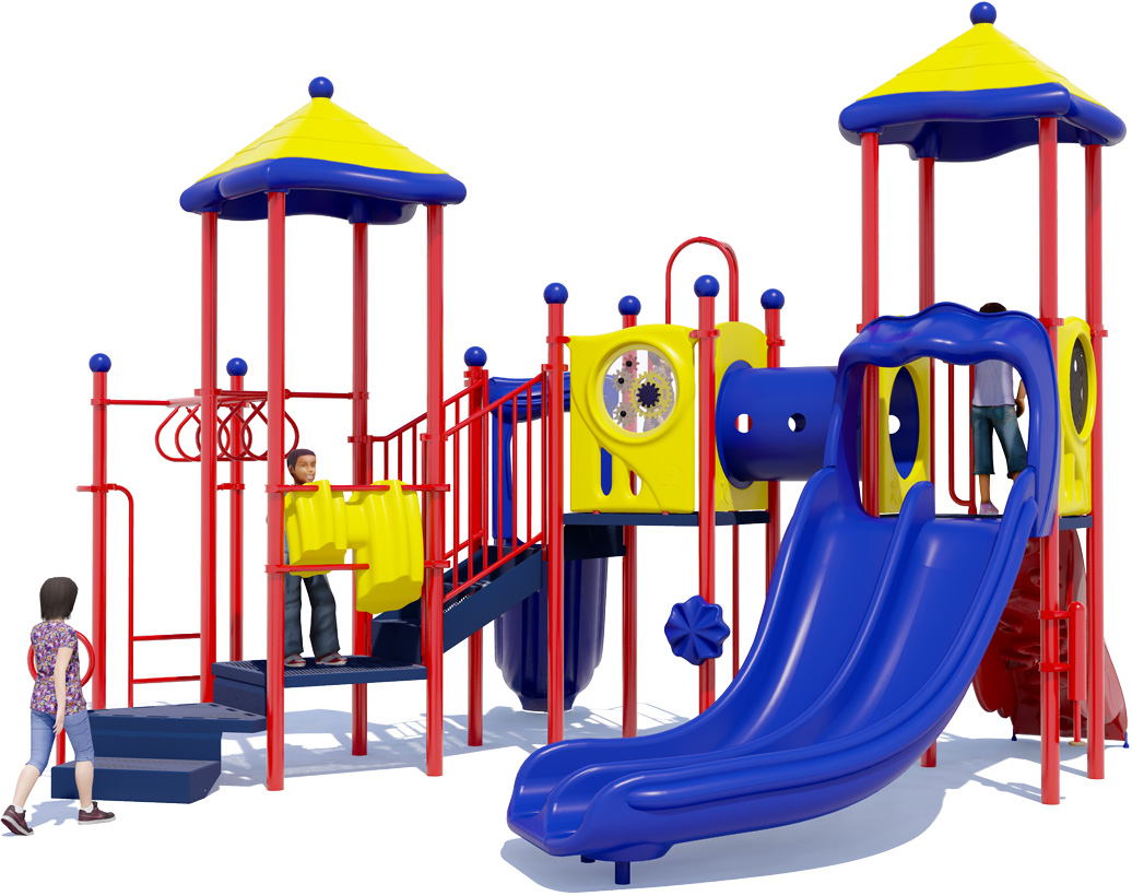 Twist & Shout Play Structure - Back View