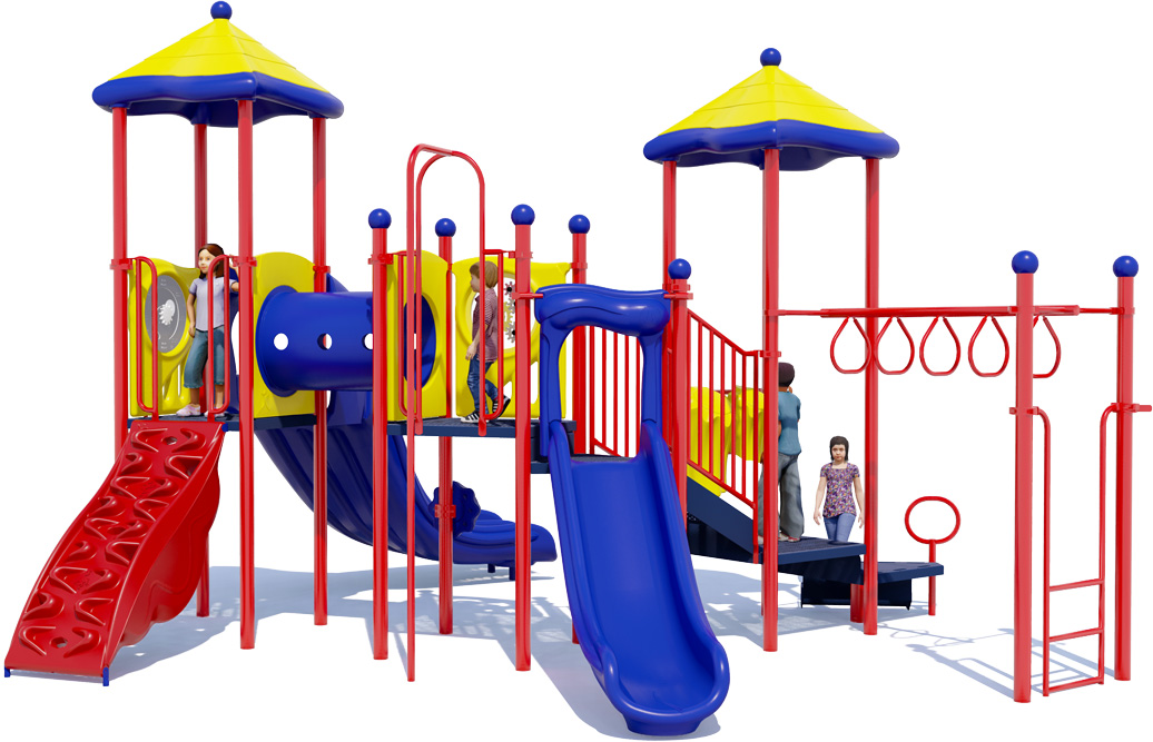 Twist & Shout Play Structure  - Front View
