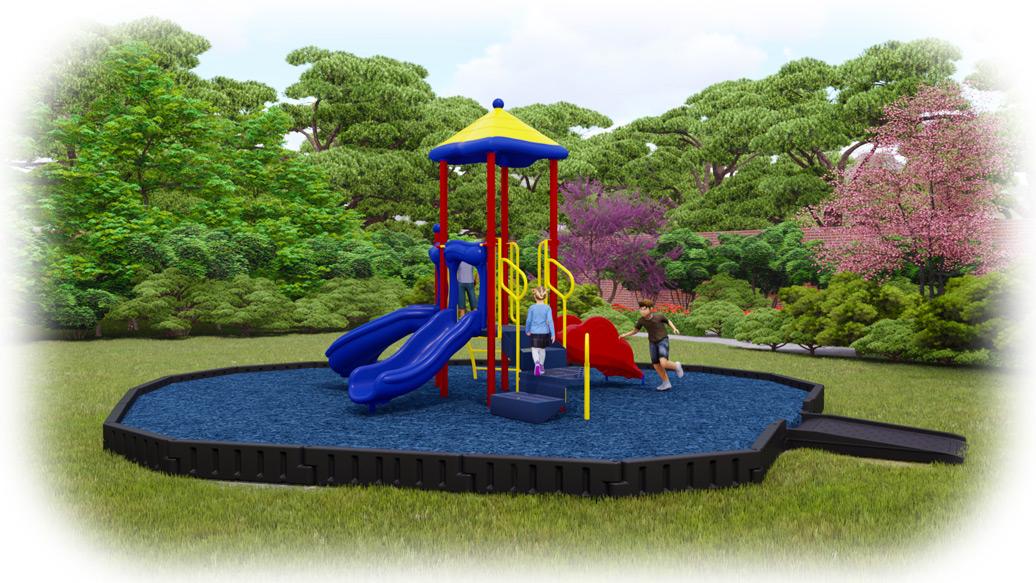Junior Jam Playground Bundle - Primary Colors - Rubber Mulch
