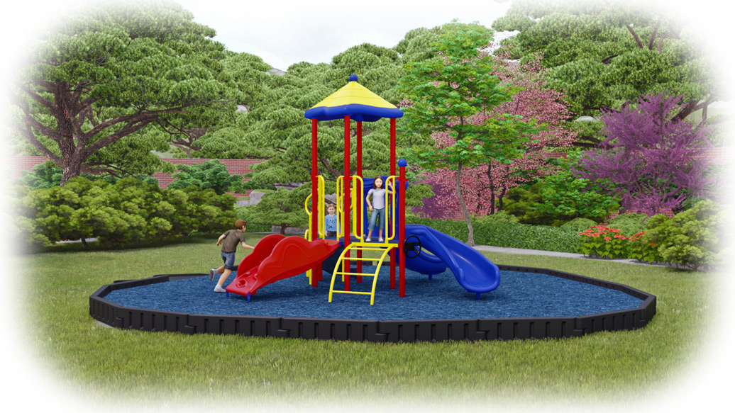 Junior Jam Playground Bundle - Primary Colors - Rubber Mulch
