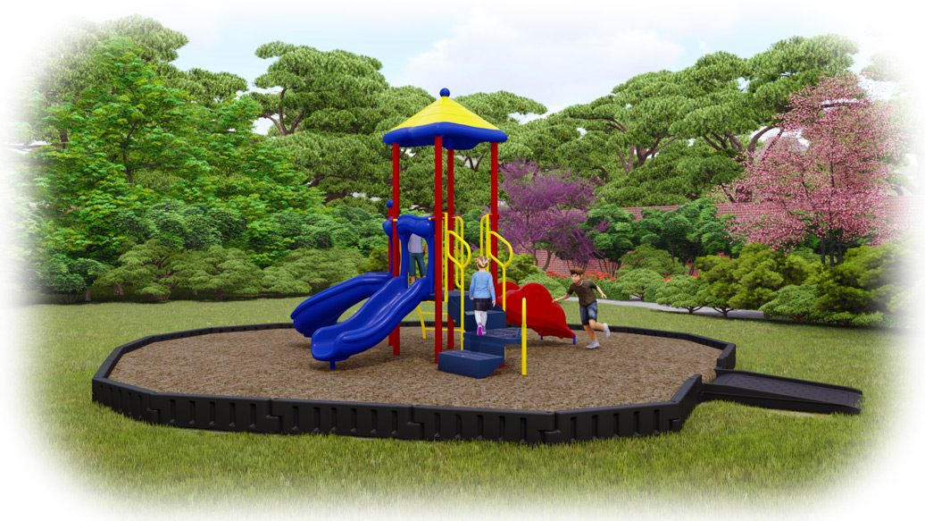 Junior Jam Playground Bundle - Primary Colors - Engineered Wood Fiber