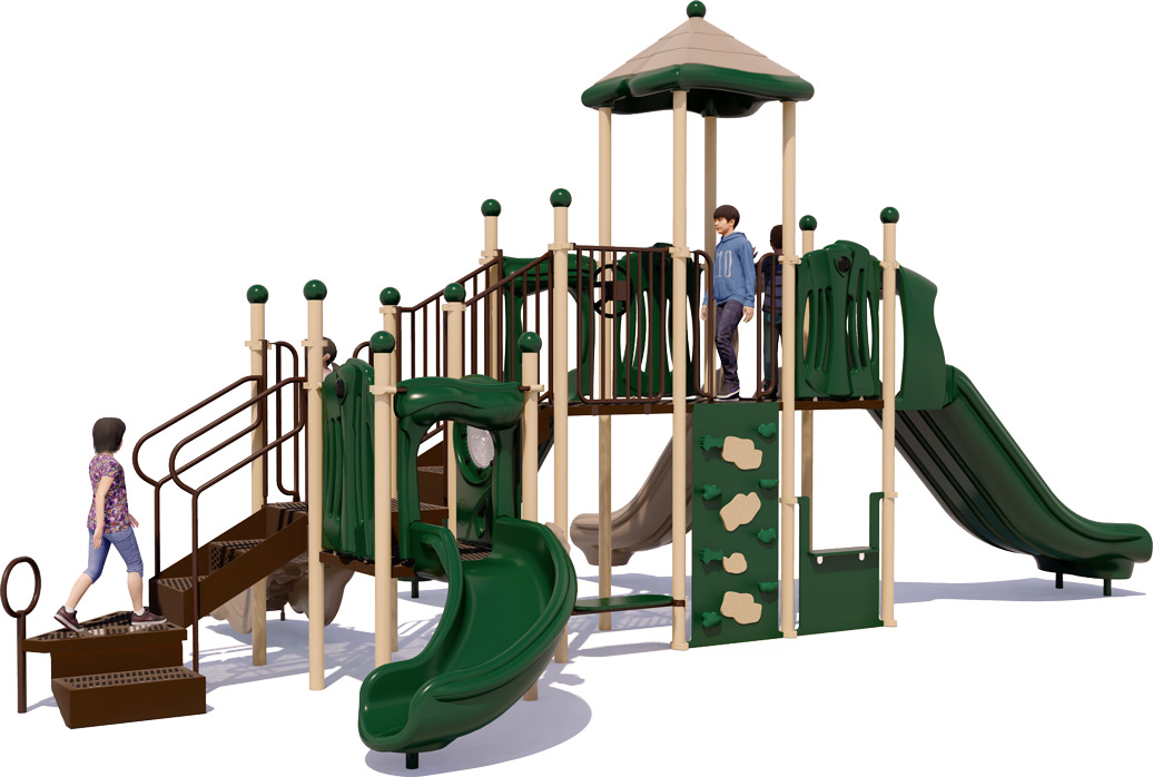 Big Kahuna Commercial Play Structure - Rear View