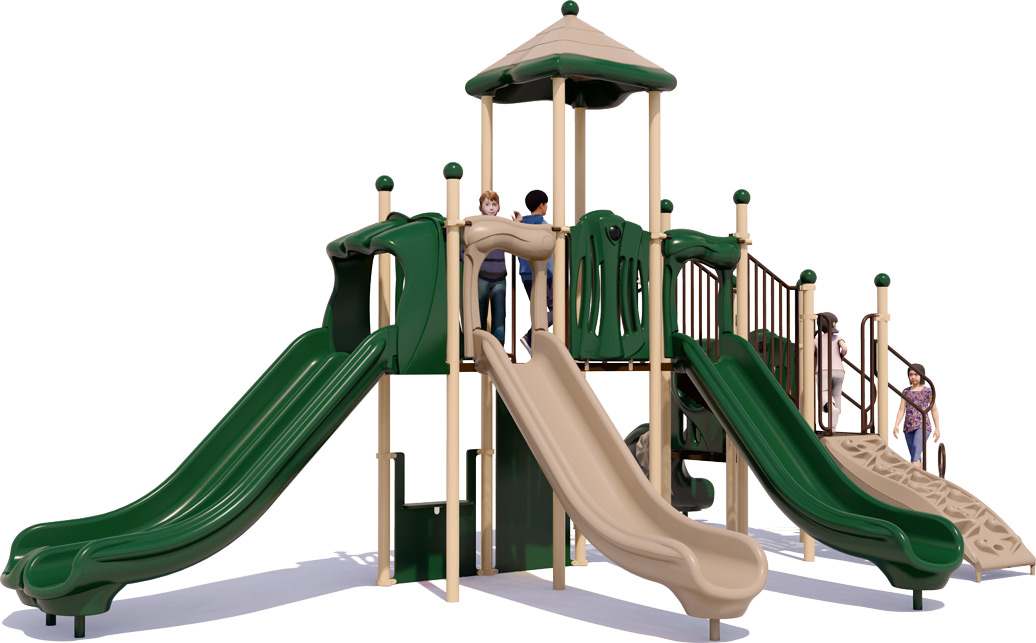 Big Kahuna Commercial Play Structure - Front View