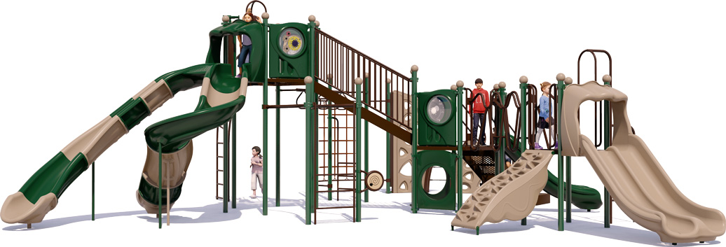 Goliath - Back View - Natural Color Scheme - Commercial Playground Equipment