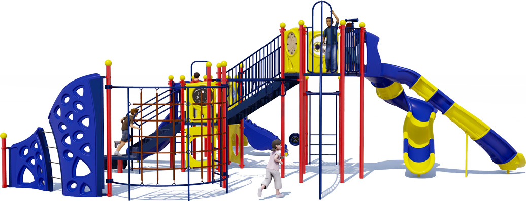 Goliath - Back View - Primary Color Scheme - Commercial Playground Equipment