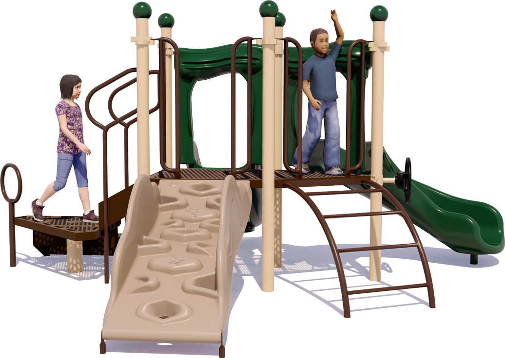 Short Stuff - Playground Equipment - Back View - Natural Colors