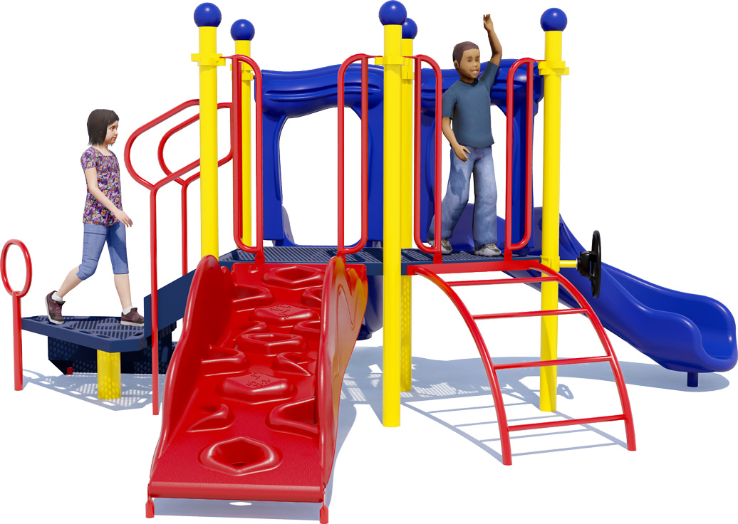 Short Stuff - Playground Equipment - Back View - Primary Colors