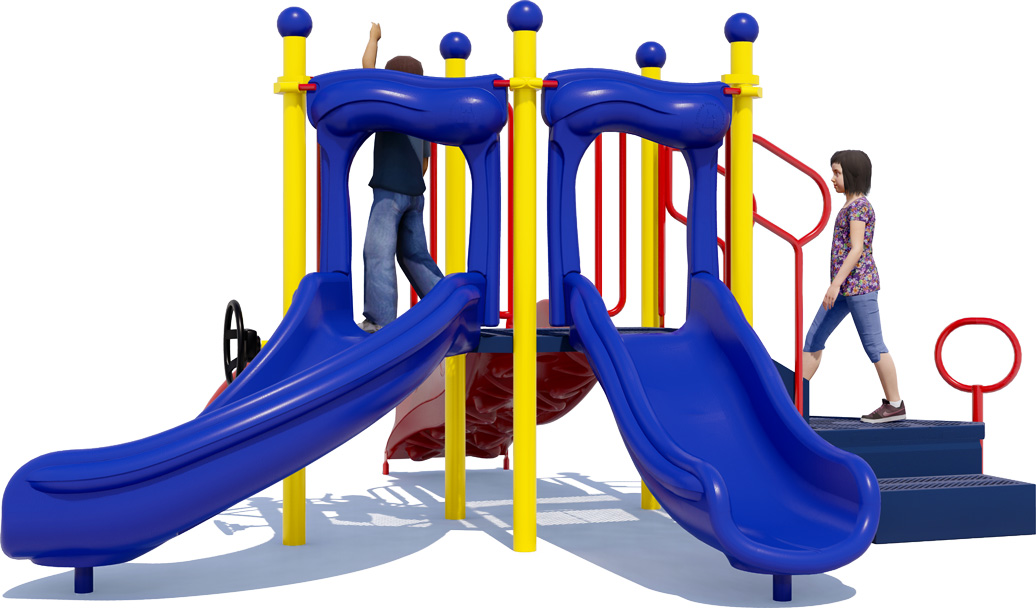 Short Stuff - Playground Equipment - Front View - Primary Colors