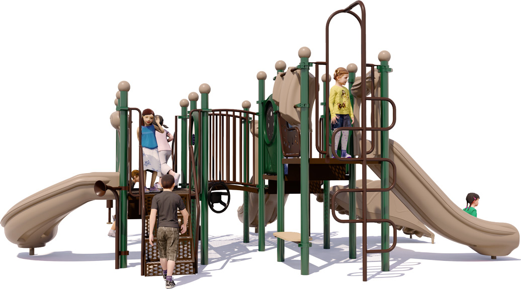 Grand Central Commercial Playground - Natural Color Scheme - Back View