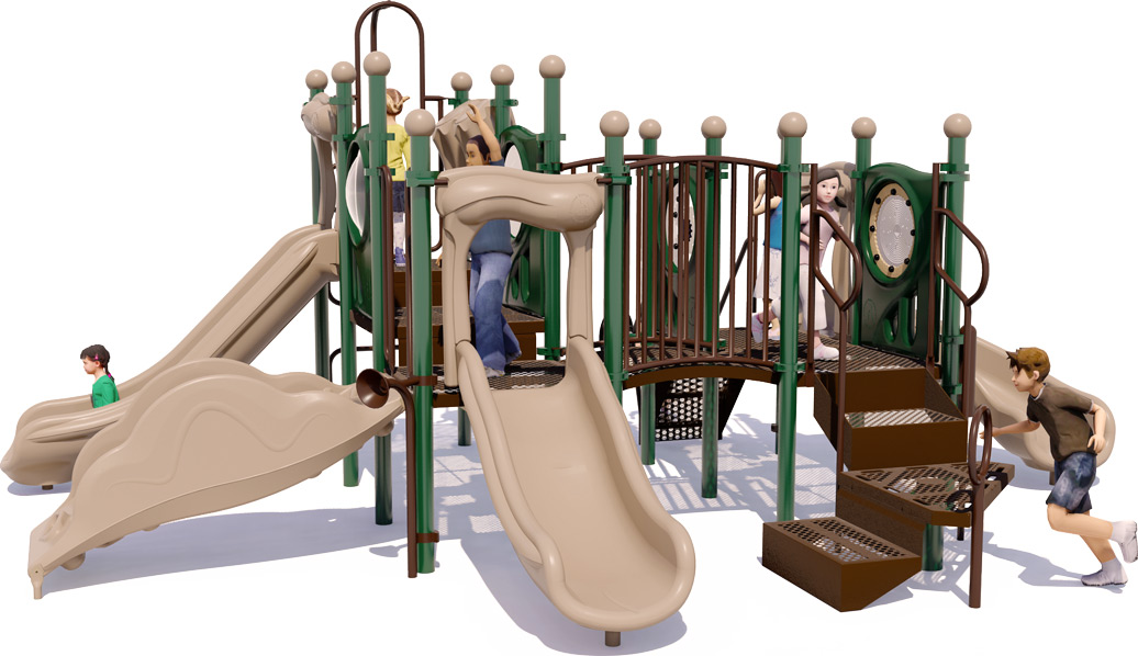 Grand Central Commercial Playground - Natural Color Scheme - Front View